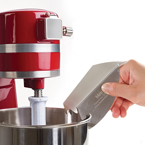New Metro Design Universal Pouring Chute for Use with Stand Mixers with Metal Bowls, Stainless Steel - smallkitchenideas.us