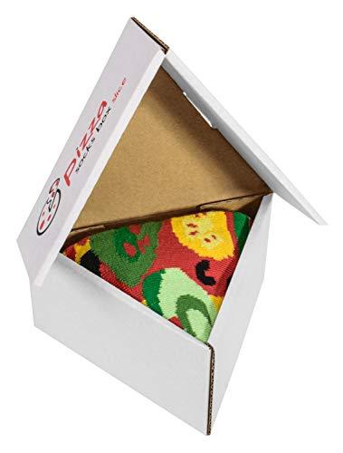 PIZZA SOCKS BOX Vege 1 pair Cotton Socks Made In Europe Unisex Funny Gift!