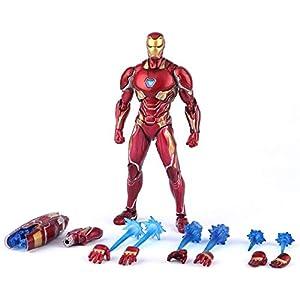 Xiao Yu Marvel Avengers Infinity War Action Figure Iron Man MK 50 Mark XLX PVC Collectible Model Toy