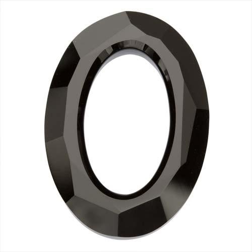 Swarovski Crystal, #4137 Cosmic Oval Pendant 33mm, 1 Piece, Jet Black