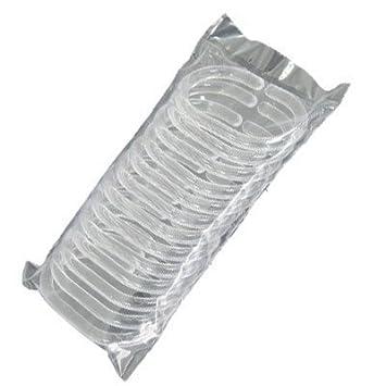 12pcs Clear Plastic Hooks Bathroom Shower Curtain C Rings: Amazon ...
