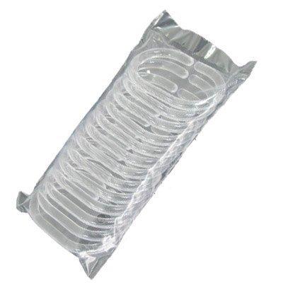 Westeng Shower Curtain Rings Bathroom Rod Plastic Hook Hanger 360 Degrees Rotated White Pack Of