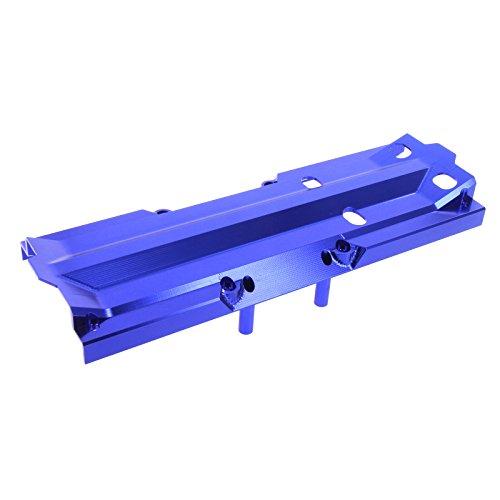 (Atomik RC Traxxas X-Maxx Alloy Center Skid Plate, Blue TRX 7745)