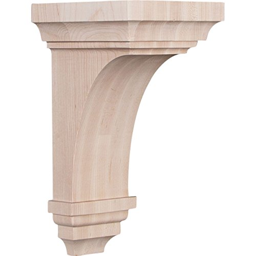 Ekena Millwork CORW06X06X12JERO 6'W x 6 3/4'D x 12'H Large Jefferson Wood Corbel, Red Oak