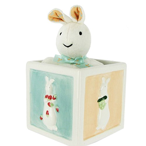 Pat The Bunny Plush - Pat the Bunny Rabbit Trinket Box & Plush for Kids by Russ Berrie - Easter and Springtime Decorations.