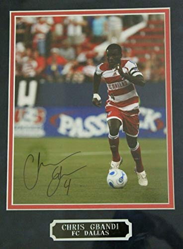 (Chris Gbandi FC Dallas MLS Soccer Autographed Signed 17x20 Framed Photo)