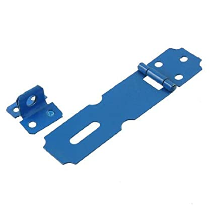 Cerradura de la puerta eDealMax Inicio Garaje de metal azul 3 del cerrojo de la grapa