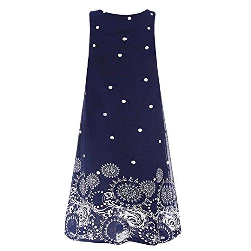 Beach Evening KEERADS Chiffon Blue Sleeveless Summer Dress Party Dress Mini Women xrYZ4qR0Y