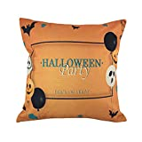 Hongxin Halloween Pillow Cases,Cotton Linen Balloon Ghosts Pattern Sofa Cushion Cover Home Decor (C, 45cm×45cm)
