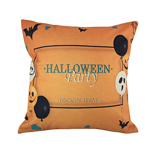 MaxFox Halloween Balloon Ghosts Throw Pillow Cover Square Pillow Case Cushion for Office Home Room Car Decor (C) ()