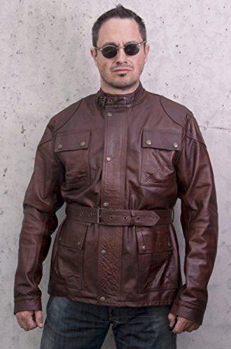 Vraie Veste de Moto en cuir argentin -Modèle Tigre-