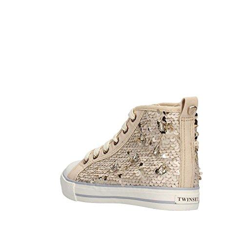 À Paillettes La Tissu Lacets Sneaker Fille Femmes Femme Twin Blanche Originale set Filles Et Beige Mode En tvfwvRTq