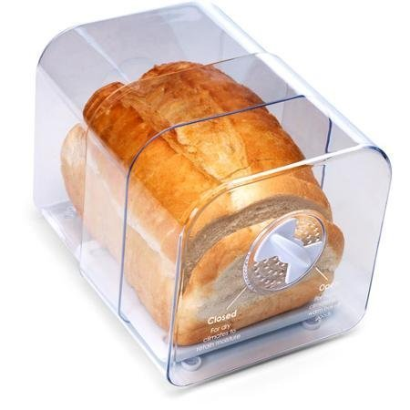 Expandable Bread - Expands Up To 11 Long, Durable And Corrosion Free, Adjustable Bread Keeper, Clear by Progressive International