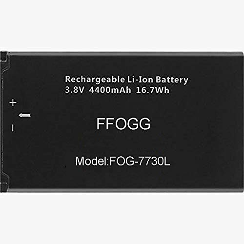 FFOGG New 4400 mAh Replacement Battery for Novatel Jetpack MiFi 7730L Mobile Hotspot - P/N: 40123117
