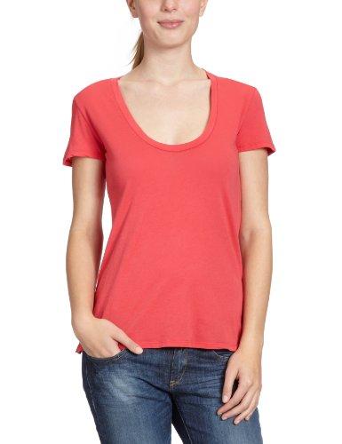 Rio Pink Maglietta corta rotondo bobi Rosso manica donna collo 8qfxwa