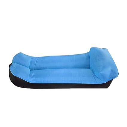 KfeiWO Almohada Puff Cama Sofa Hinchable Tumbona portátil Exteriores Oxford Playa Aire colchón Impermeable Hamaca Bebé