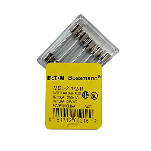 Buss Mini Fuse - Cooper Bussmann MDL-2-1/2-R Buss Small Dimension Fuse
