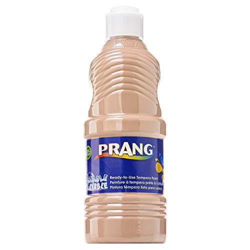 PRANG Ready-to-Use Washable Tempera Paint, 16-Ounce Bottle, Peach (10711)