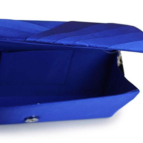 Sacs Main Blue Capacité Sac Appliques sac Tout Glitter À White Fourre Polyester Sparkling Satin À Main Grande À Bandoulière Soie QZTG pour à Femme Silver main De Strass Sacs Bleu De en AgtwRAZxq