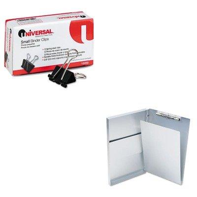 KITSAU10519UNV10200 - Value Kit - Saunders Snapak Aluminum Forms Folder (SAU10519) and Universal Small Binder Clips (UNV10200)