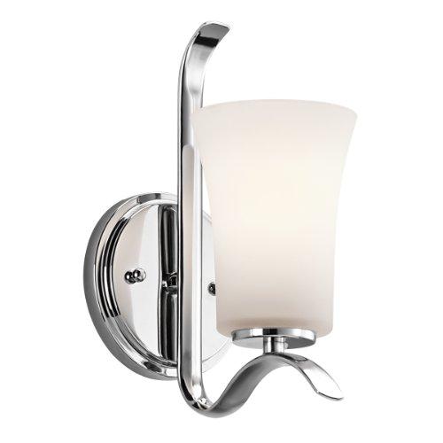 Chrome Transitional 1 Light (Kichler 45374CH One Light Wall Sconce)