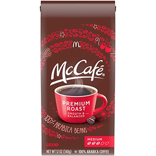 McCafe Premium Roast Ground Coffee (12 oz Bags, Pack of 6)
