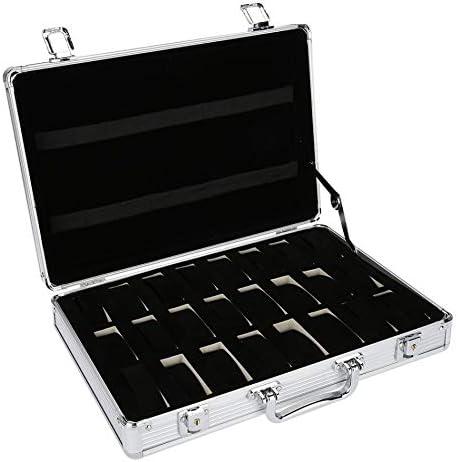 SODIAL Caja Maleta de Aluminio de 24 Rejillas Caja de ...