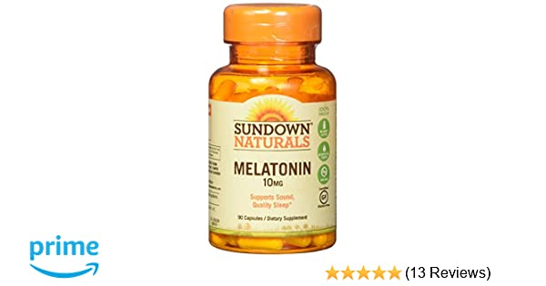 Amazon.com: Sundown Naturals Melatonin 10 Mg, 90 Capsules: Health & Personal Care