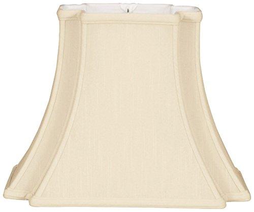 (Royal Designs Rectangle Bell Inverted Corner Designer Lamp Shade, Beige, (6.5 x 5) x (12 x 8) x 10 )