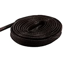 Flat Waxed Cotton Shoelaces Waterproof for Dress Shoes Boots Casual Shoes Sneaker Lacets by Santimon(7 Colors and 9 Lengths Available)