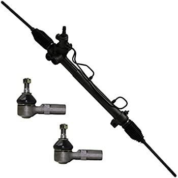 Detroit Axle Complete Power Steering Rack & Pinion Assembly + All 4 Inner & Outer Tie Rod Ends