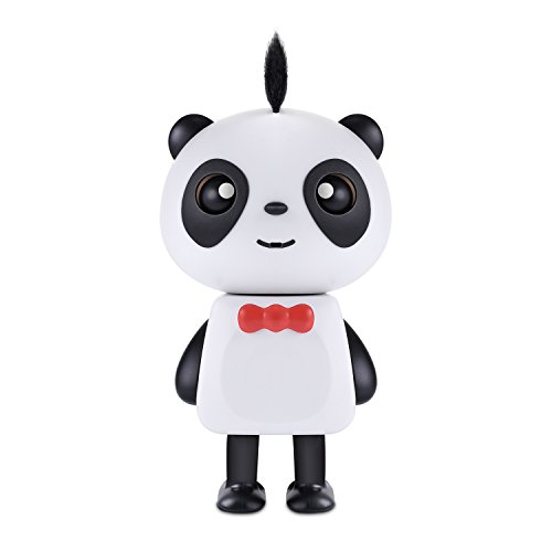 by Panda Toy, Rechargeable LED Dancing Music Panda Robot Bluetooth Speaker Gift Kids Boys Girls(Black + White) ()