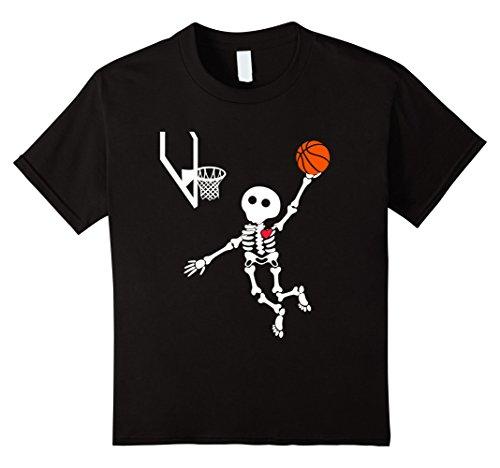 Kids basketball skeleton halloween shirt 8 Black for $<!--$17.99-->
