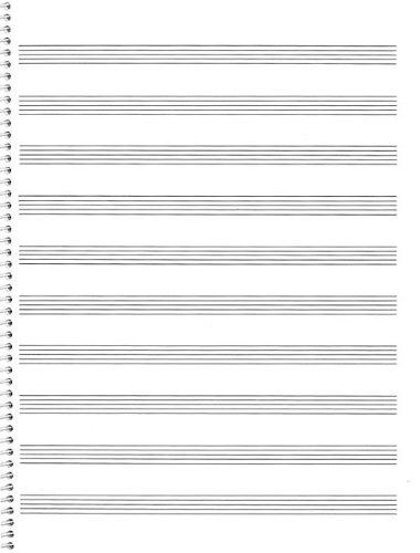74. Spiral Book: 10-stave: Passantino Manuscript Paper (Passantino Manuscript Papers) - Passantino Music Papers