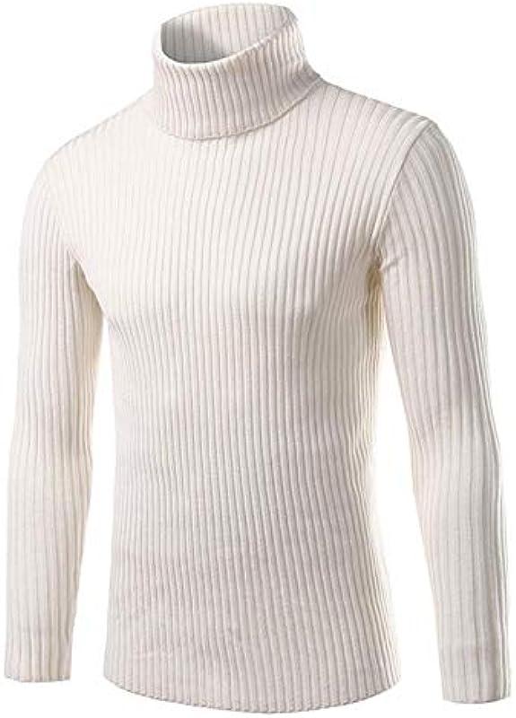 YANGPP jesień i zima luźny sweter męski smukły zdejmowany męski stÓjka sweter dziany: Sport & Freizeit