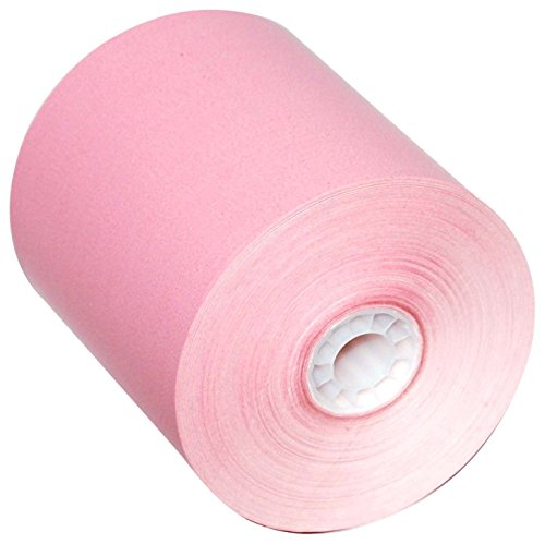 3-1/8'' x 230' Colored Thermal Paper Rolls (Pink) by ROLLXY (Image #1)
