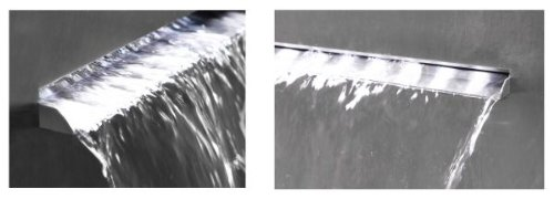 Rectangular Planter Waterfall Cascade With LED Lights Sutherland Falls 89cm tall