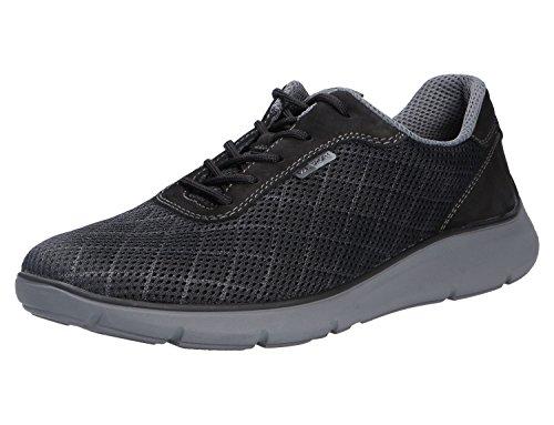 Waldläufer 953001-203-001, Chaussures de Ville à Lacets pour Homme Noir