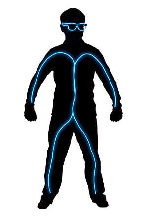 GlowCity Light Up Stick Figure Costume Kit-Aqua