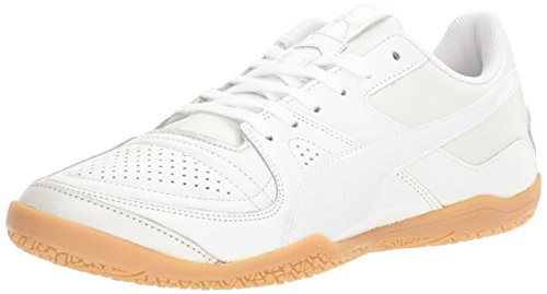 Puma Mens Invicto Made in Japan Soccer Shoe Puma White/Puma White/Puma White