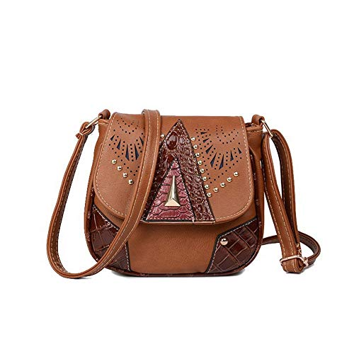 Bags Women's Pu AllhqFashion Casual Bags FBUBC212535 Lightbrown Crossbody Shopping Black TYfwUCq