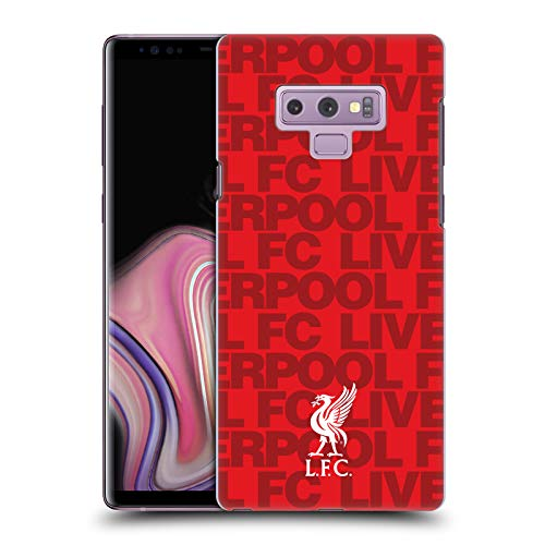 Notes Red Club - Official Liverpool Football Club Red 2018/19 Crest & Liverbird Patterns Hard Back Case Compatible for Samsung Galaxy Note9 / Note 9