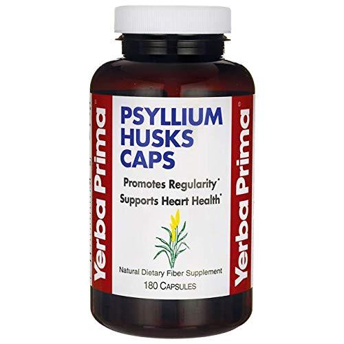 Yerba Prima Psyllium Husks Caps Dietary Fiber 625 mg, 180 Capsules by Yerba Prima