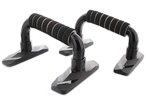 Pushup Stand - Pushup Bar for Increased Range of Motion - Pushup Stand to Make Push Ups More Challenging - Do the Perfect Pushup, 8.2 x 5.5 x 4.7 Inches, Black by