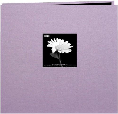 (Pioneer Book Cloth Cover Post Bound Album 8x8-Misty Lilac)