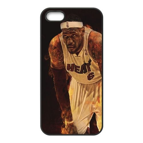 Fire Basketball Player coque iPhone 4 4S cellulaire cas coque de téléphone cas téléphone cellulaire noir couvercle EEEXLKNBC25060