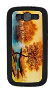 cover stylish landscape drawing TPU Black case/cover for Samsung Galaxy S3 I9300