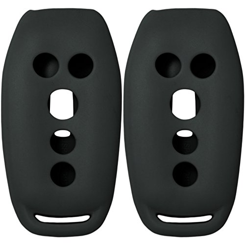 2 New Silicone Cover Protective Case for Select Ford Vehicles With Push-button Ignition That Use Proximity Smart Keys with FCC M3N-A2C31243300 - Black