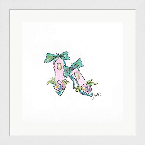 - Two Shoes by Molly Susan Strong Framed Art Print Wall Picture, Flat White Frame, 20 x 20 inches