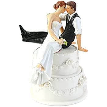 WeddingDepot Funny Bride And Groom Decorative Wedding Cake Toppers